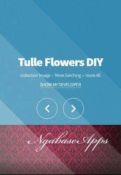 Tulle Flowers DIY poster