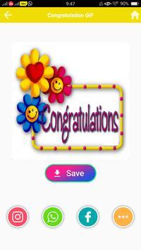 Congratulation GIF screenshot 4