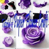 Tutorial of Paper Flower Craft icon