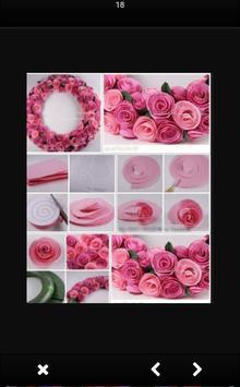 Tutorial of Paper Flower Craft screenshot 3