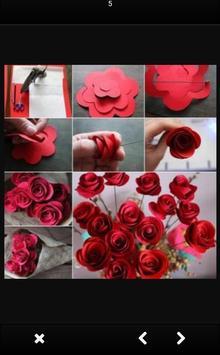 Tutorial of Paper Flower Craft screenshot 1