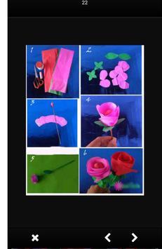Tutorial of Paper Flower Craft screenshot 4