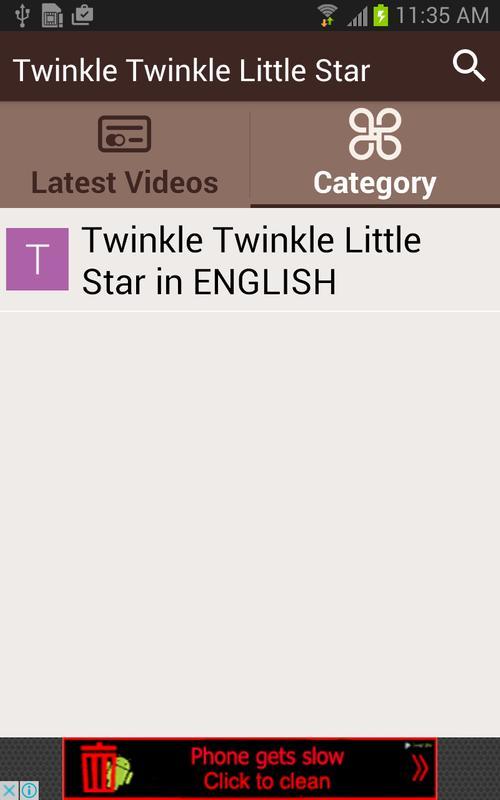 Twinkle Twinkle Little Star APK Download - Free Entertainment APP ...