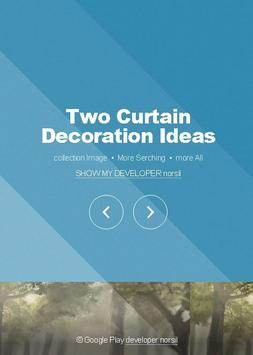 Two Curtain Decoration Ideas poster
