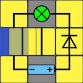 Electric – logic slide puzzle icon