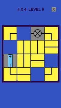 Electric – logic slide puzzle poster