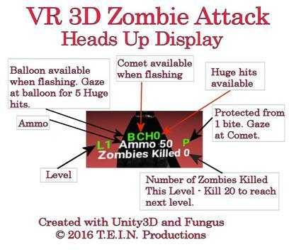 VR 3D Zombie Attack screenshot 2