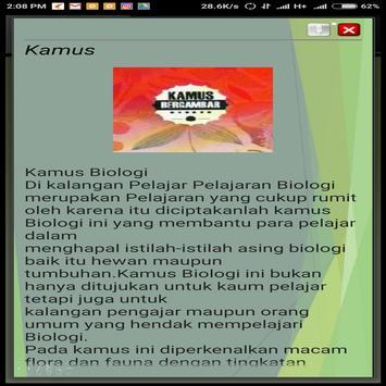 Kamus Biologi screenshot 1
