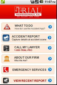 Accident App by 1800TRIALPRO apk screenshot