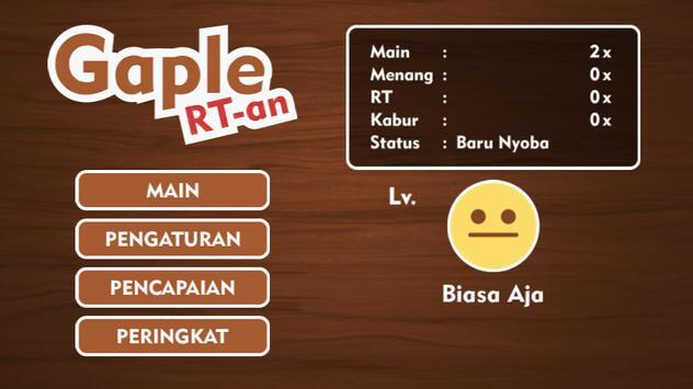 Gaple RT-an poster