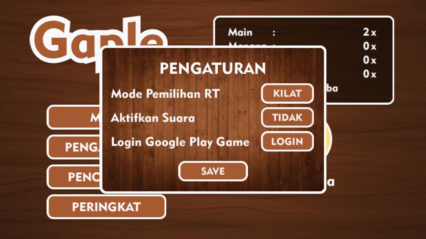 Android game gratisan Gaple RT-an v1.0.9