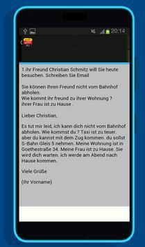 امتحان اللغة الألمانية القسم الكتابي A1 screenshot 2