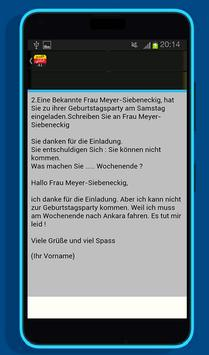 امتحان اللغة الألمانية القسم الكتابي A1 screenshot 3
