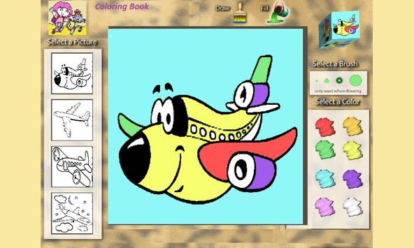 Coloring Book: Airplanes screenshot 1