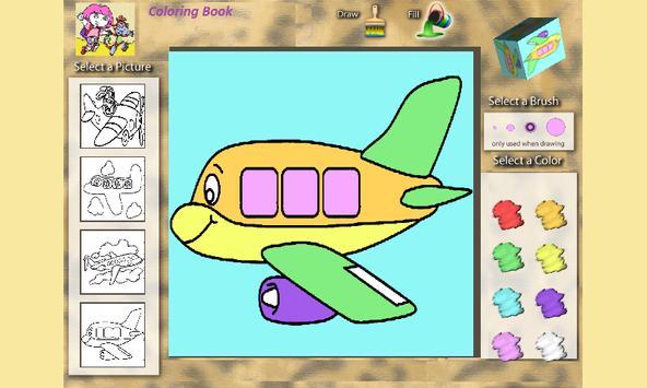 Coloring Book: Airplanes screenshot 2