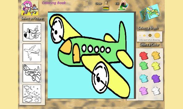 Coloring Book: Airplanes screenshot 3