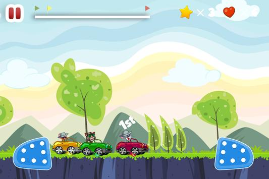 Talking Cat Vs Jerry Car Racing Adventure apk screenshot
