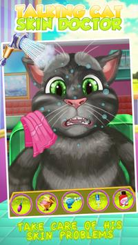 Talking Cat Skin Doctor Kids Game apk screenshot