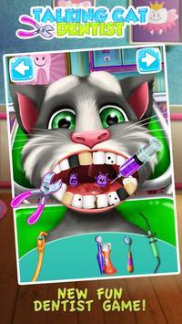 Talking Cat Dentist Salon poster