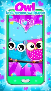 Owl Lock Screen Wallpaper poster