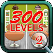 Find the differences 300 levels icon