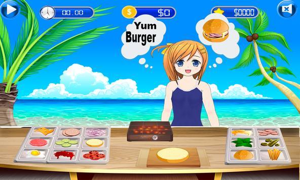Fun Kitchen Chef– 2D Fast Food Burger Cooking Game screenshot 1