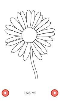How To Draw :Flowers apk screenshot