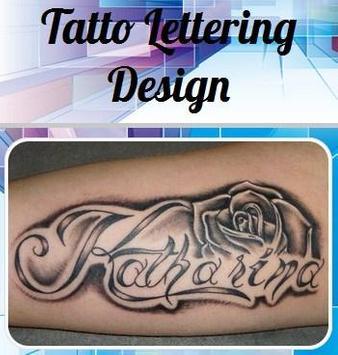 Tatto Lettering Design poster