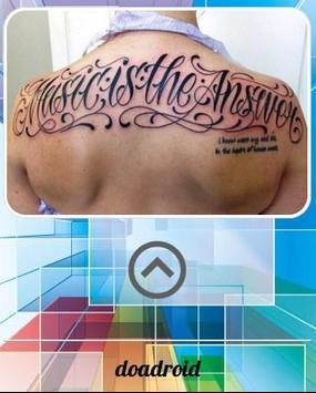 Tatto Lettering Design apk screenshot