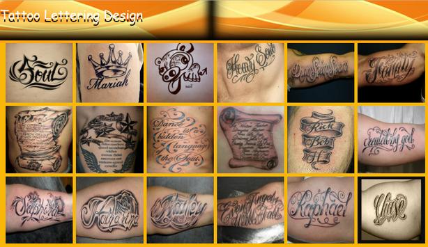 Tattoo Lettering Design apk screenshot