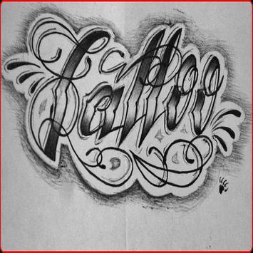 tattoo lettering design poster