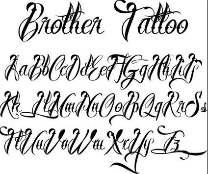 tattoo lettering design apk screenshot