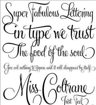 Tattoo Lettering Design Ideas Apk Screenshot