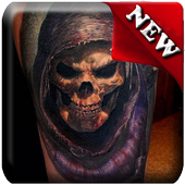 Tattoo Skulls 3D Ideas icon