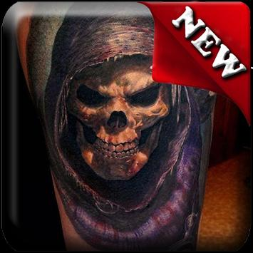 Tattoo Skulls 3D Ideas poster