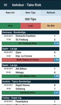 betobur TakeRisk -Betting Tips apk screenshot