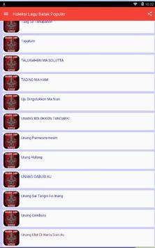 Koleksi Lagu Batak Populer screenshot 5