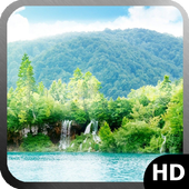 Forest Waterfall Wallpaper icon