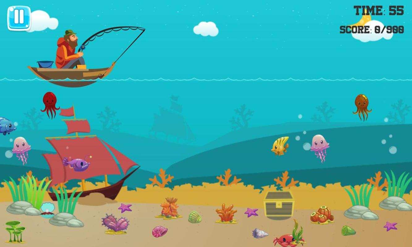 Fishing for children and the underwater world game for for Fish world game