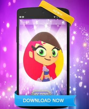 Teen Eggs Surprise Titans Go Doll opening toys pop screenshot 2