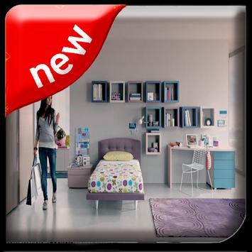 Teenage Minimalist Room poster