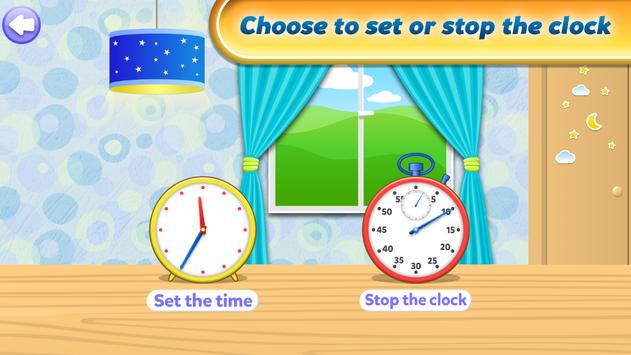 Telling Time Games For Kids apk screenshot