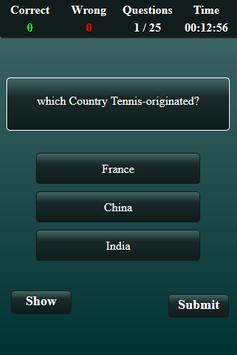 Quiz: Tennis screenshot 2