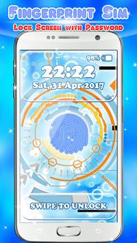 Fingerprint Sim - Lock Screen with Password poster