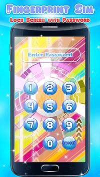 Fingerprint Sim - Lock Screen with Password apk screenshot