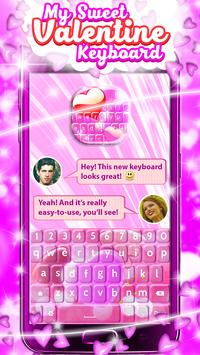 My Sweet Valentine Keyboard screenshot 2
