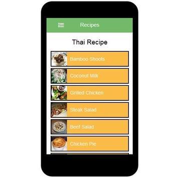Thai Recipes apk screenshot