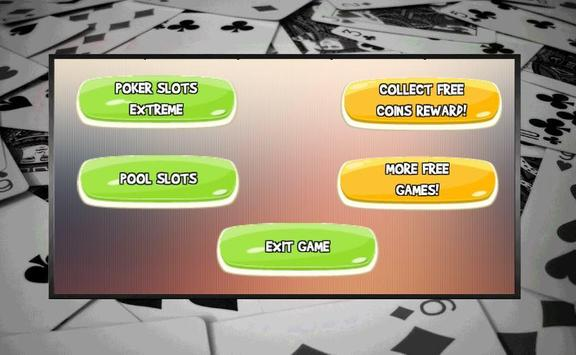 Poker Pool Casino Slot Machine screenshot 1