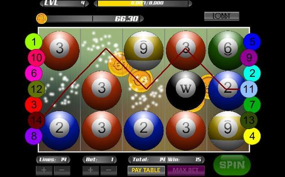 Poker Pool Casino Slot Machine screenshot 2