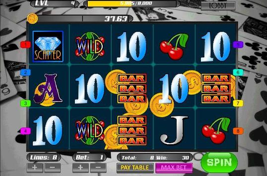 Poker Pool Casino Slot Machine screenshot 3